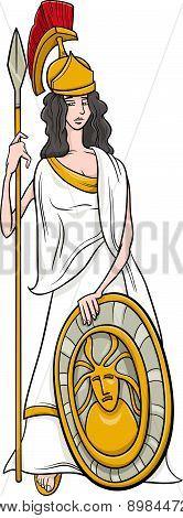 Greek Goddess Athena Cartoon