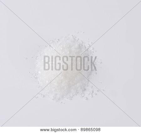 overhead view of coarse grained salt