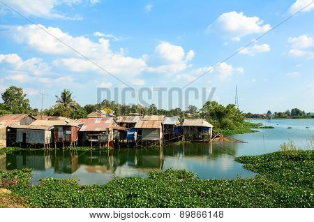Colorful Squatter Shacks And Houses In Saigon