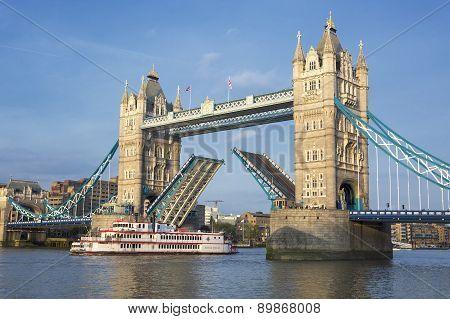 Tower Bridge And Boat