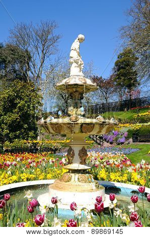 Fountain in the Dingle, Shrewsbury.