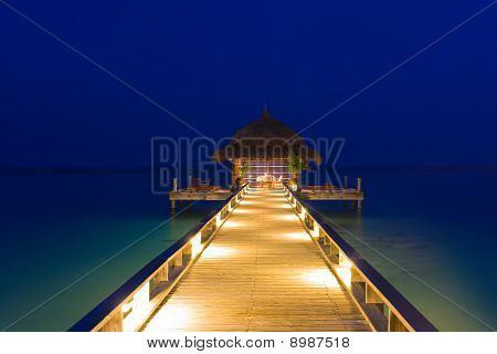Water Cafe At Night