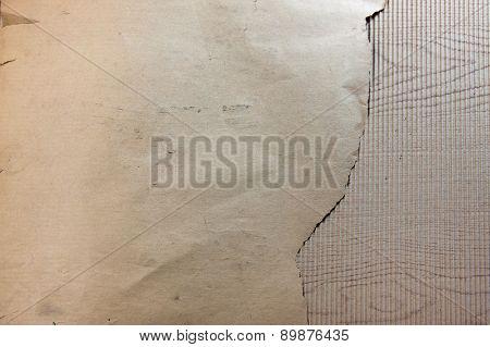 Old Paper On Corrugated Fiberboard Single Face