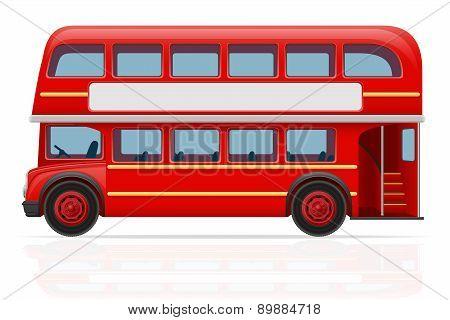 London Red Bus Vector Illustration