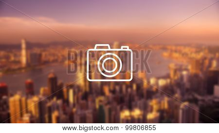 Photo Hong Kong Cityscape Downtown View Concept