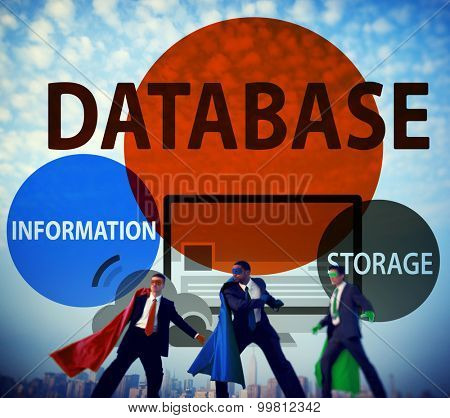 Database Online Storage Technology Concept poster