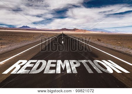 Redemption written on desert road