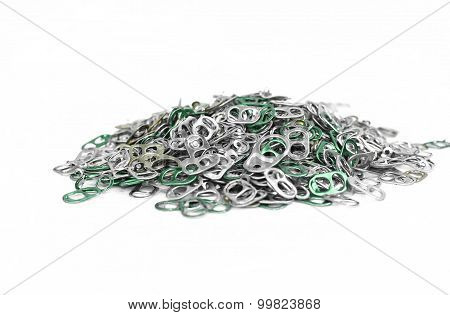 Pile Of Aluminum Tops Cap Can
