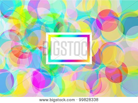Background with abstract color bubbles with text place
