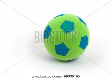 Studio Shot Of A Green Foam Ball
