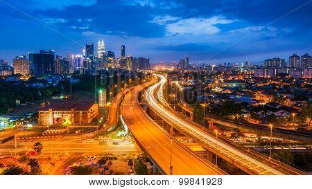 Malaysia - Kuala Lumpur Cityscape with twin tower