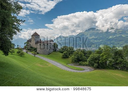 Vaduz Castle, The Palace And Official Residence Of The Prince Of Liechtenstein.