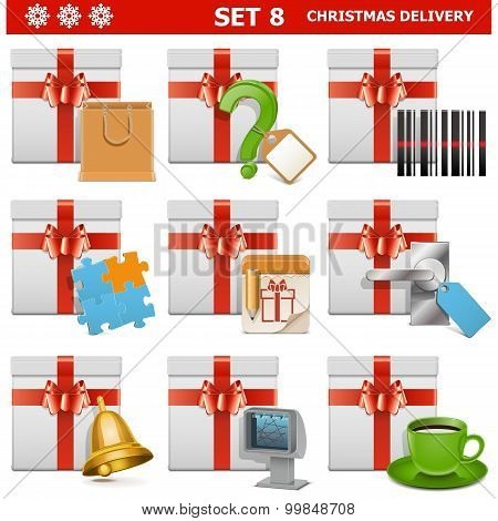 Vector Christmas Delivery Set 8