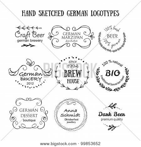 German Vintage Badges And Icons