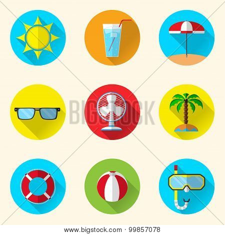 Summer Flat Icons
