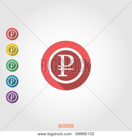 Rouble flat icon