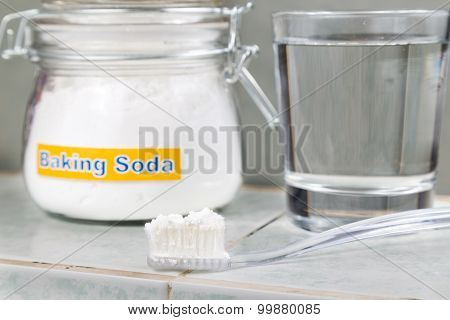 Baking Soda Used To Brighten Teeth And Remove Plague From Gums.