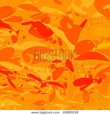 Abstract orange background with splatters