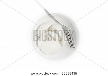 Boiled Albumen  Isolated Over White