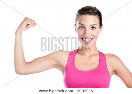 Smiling And Flexing