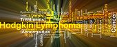 Background concept wordcloud illustration of Hodgkin lymphoma glowing light poster