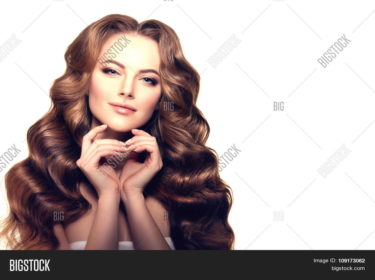 Model Long Hair Waves Image Photo Free Trial Bigstock