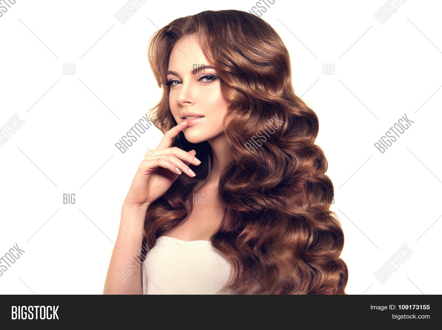 Healthy Hair Styles: Model Long Hair. Waves Image & Photo (Free Trial)
