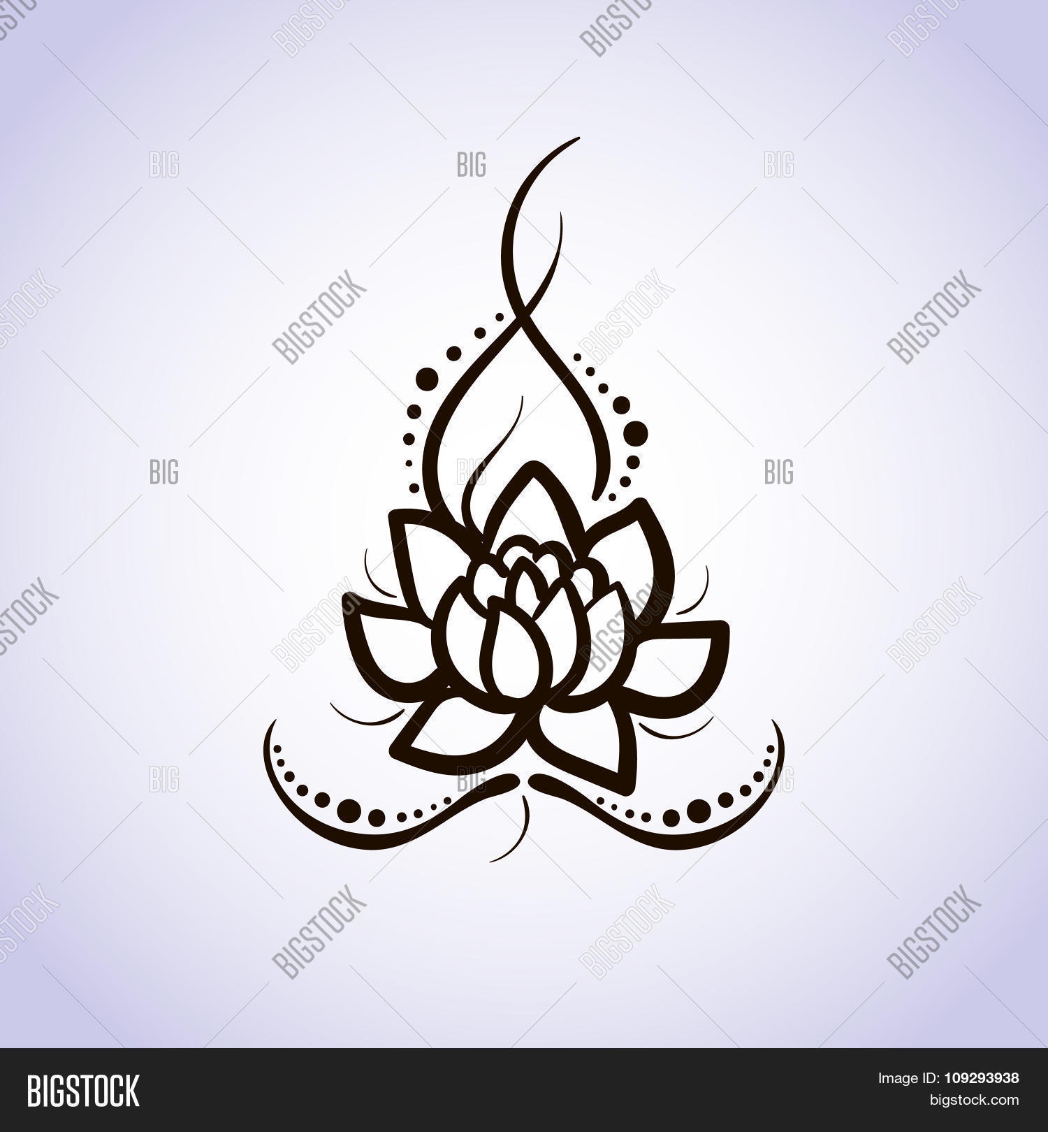 Lotus flower pattern vector photo free trial bigstock lotus flower pattern line on isolated background logo for yoga studio spa india izmirmasajfo