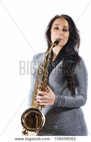 Lady Playing the Sax