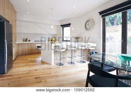 Modern Open Plan Kitchen With Island Bench