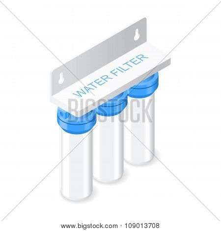 Water Filter Isometric Icon