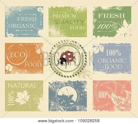 Bio, Eco, Organic Labels Collection.