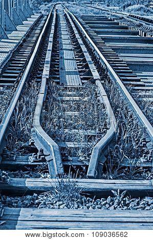 Railway Junction In Blue Background 3