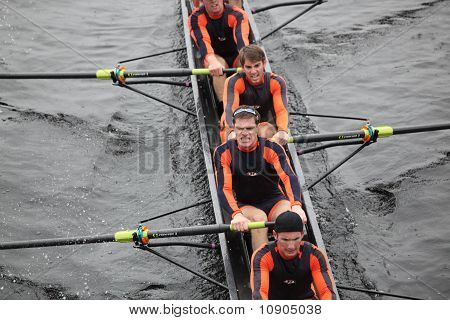 Boston - October 24: Hobart College Men's Crew Competes In The Head Of The Charles Regatta On Octobe