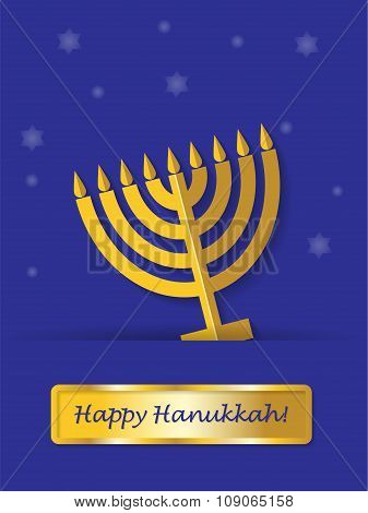 Greeting card Happy Hanukkah