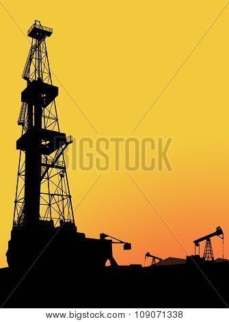 Drilling rig on the oil&gas field