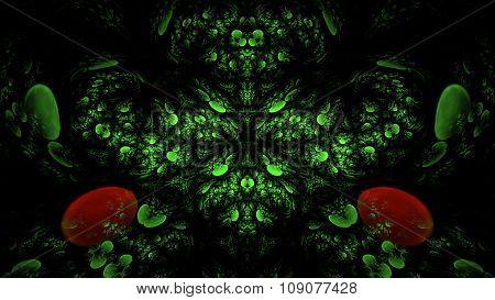 Alien Visions 3D Fractal Art