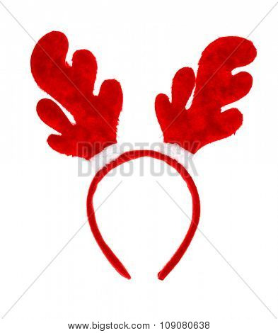 Christmas antlers of deer isolated on white background