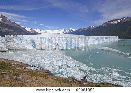 Panoramic View Of An Alpine Glacier