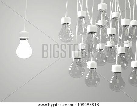 Bright Light Bulb With Regular Light Bulbs