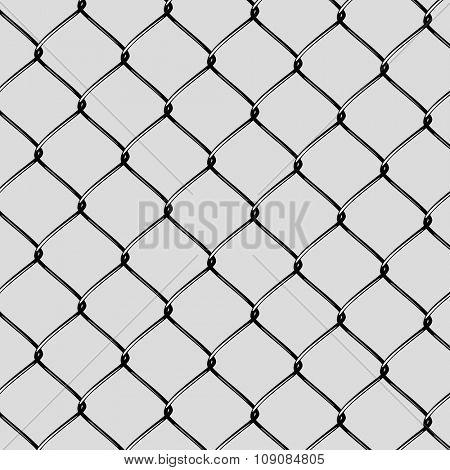 Realistic Steel Netting Cut