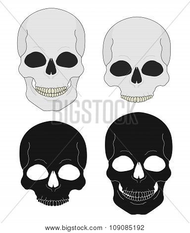 Wild west pistols and skull banners