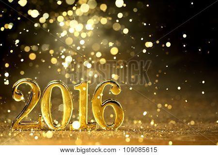 New year decoration,Closeup on 2016.