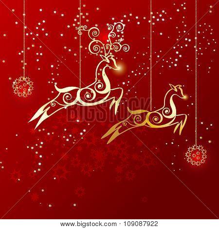 Reindeer As Christmas Ornaments.