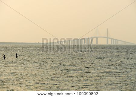 Sunshine Skyway Bridge - Tampa Bay, Florida