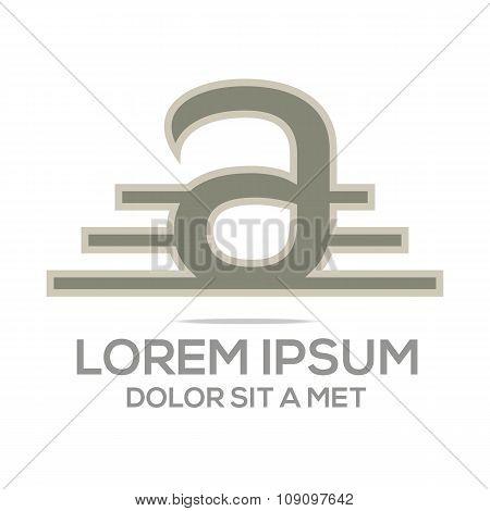 Letter business alphabet design font initial character element elegant creative emblem object strategy capital symbol success concept letter a