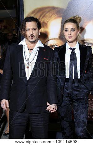 LOS ANGELES - NOV 21:  Johnny Depp, Amber Heard at the