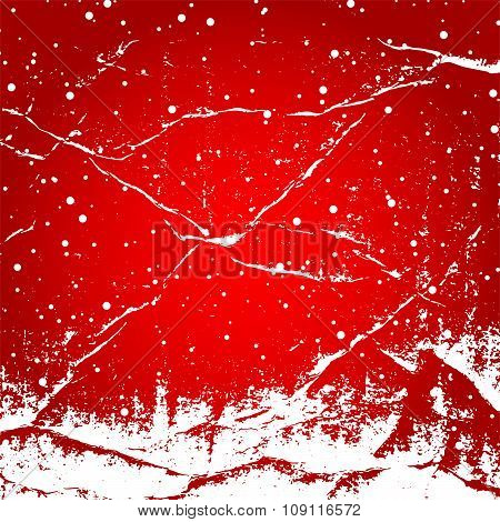 White snow with snowflakes on a red background banner vector. Winter sale. Christmas Sale. New year