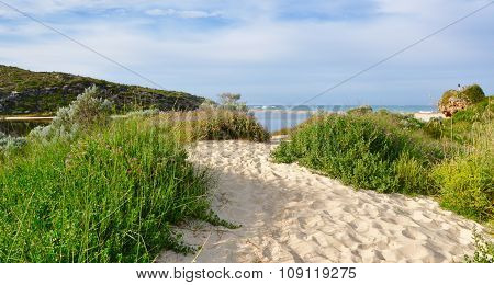 Sandy Path at the Moore River Mouth, Western Australia