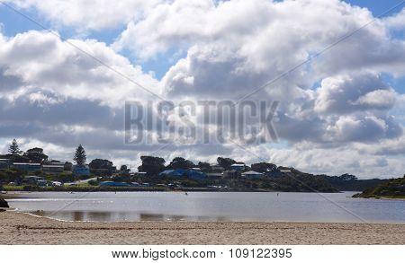 Moore River: Clouds at Dawn,Western Australia